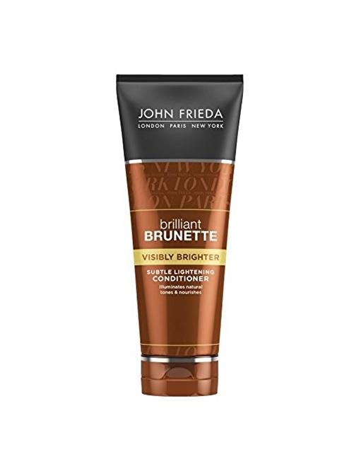 John Frieda Brilliant Brunette Kahverengi Ton Açıcı Parlatıcı Saç Kremi 250 Ml Renksiz